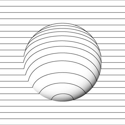 球体自体の影