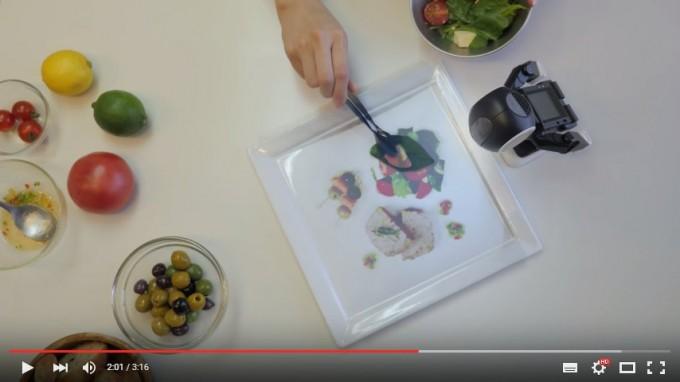 ロボホン11-料理の盛り付け