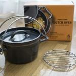 【ユニフレームダッチオーブン6インチスーパーディープ】洗剤で洗える黒皮鉄板製の一人用ダッチ