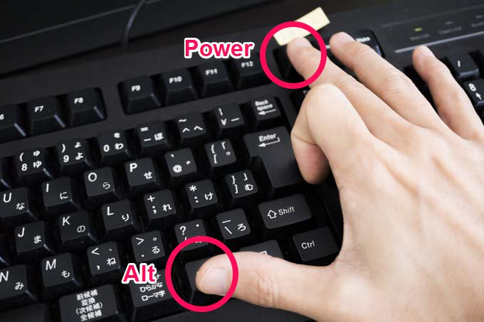 Powerボタン
