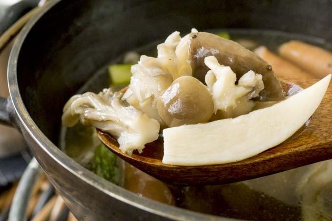 温まるきのこスープ!