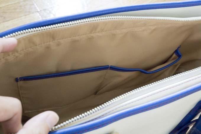 フルボデザインビジネストート 内側ポケット