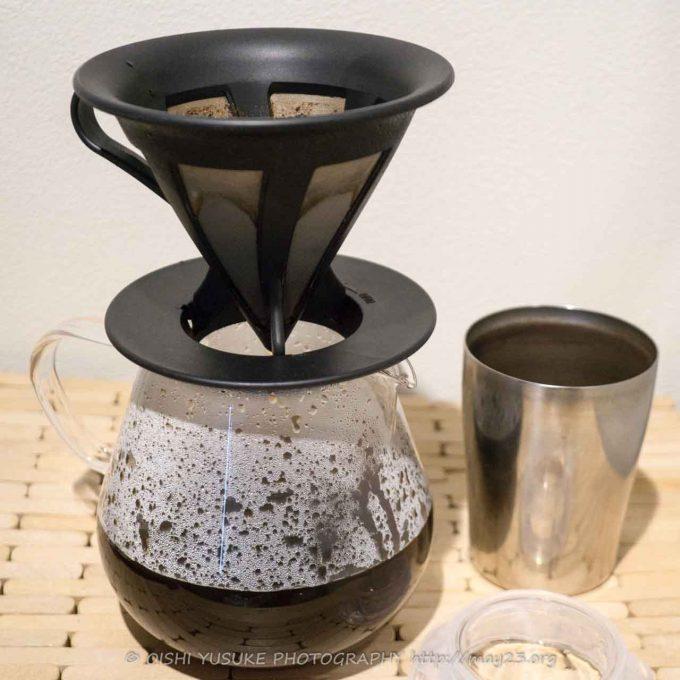カフェオールドリッパーでコーヒーを落とす