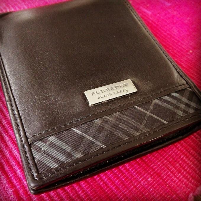 BURBERRY BLACK LABEL メンズ二つ折り財布