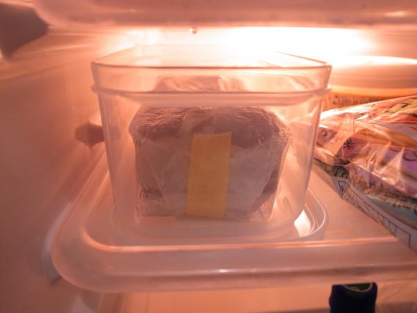 1日冷蔵庫へ