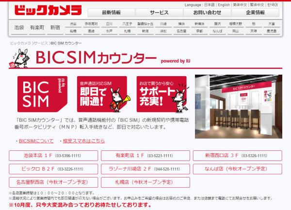 BIC SIMカウンター