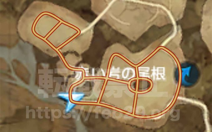 リネレボ荒地マップ