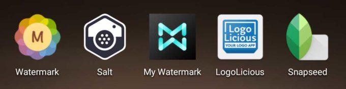 ウォーターマーク追加アプリ