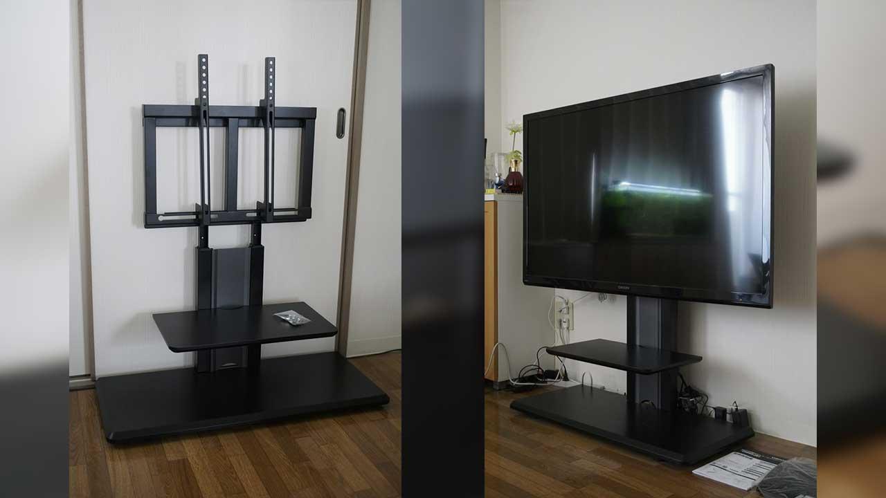 壁掛けテレビを手軽に実現!50型もOKな壁寄せスタンドレビュー